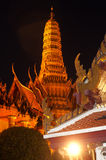 Night scene of Wat Phra Kaew is the temple . Stock Photography
