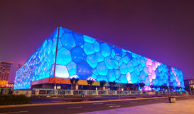 Night scene of water cube. The night scene of water cube in Beijing. Give you the memory of the Olympic games 2008 Stock Images
