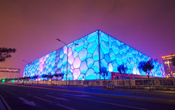 Night scene of water cube Royalty Free Stock Photography