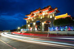 Night scene of Wen Wu Temple Royalty Free Stock Images