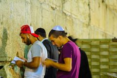 Night scene of the Western Wall Royalty Free Stock Photo