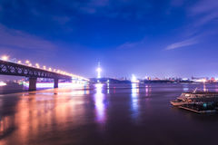 Night scene in wuhan Stock Photography