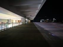 Night scene of Wuhu Railway Station stock photos