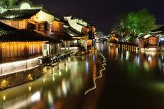Night scene of Wuzhen Stock Photography