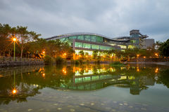 Night scene of xin zhuang arena Royalty Free Stock Photos