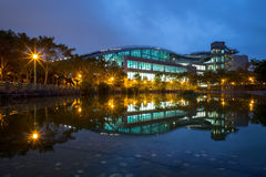 Night scene of xin zhuang arena. In taipei Royalty Free Stock Images