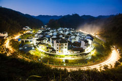 The night scenery of the Chinese countryside Stock Photos