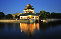 Night scenery of forbidden city in beijing Royalty Free Stock Image
