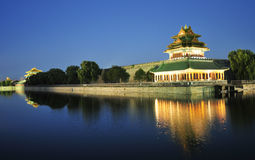 Night scenery of forbidden city in beijing Stock Images