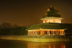 Night scenery of forbidden city,beijing Royalty Free Stock Photo