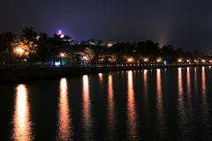 Night scenery of Gulangyu Stock Photography