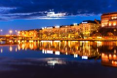 Night scenery of Helsinki, Finland Royalty Free Stock Image