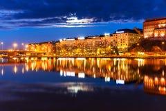 Night scenery of Helsinki, Finland Royalty Free Stock Image