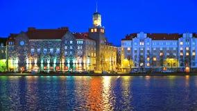 Night scenery of Helsinki, Finland stock video