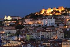 Night scenery of Lisbon Stock Photos