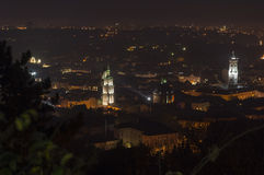 Night scenery of Lvov Stock Photo