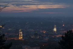 Night scenery of Lvov Stock Image