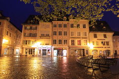 Night scenery of Mulhouse Stock Photo
