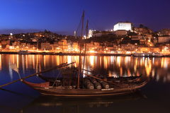 Night scenery of Porto Royalty Free Stock Images