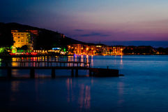Night Scenery By The Sea Stock Images