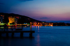 Night Scenery By The Sea Royalty Free Stock Photography