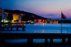 Night Scenery By The Sea Stock Photography