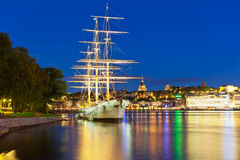Night scenery of Stockholm, Sweden Royalty Free Stock Photos