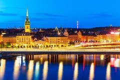 Night scenery of Stockholm, Sweden Stock Image