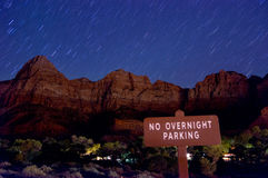 Night scenery in zion national park Stock Photo