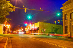 Night scenes around olde york white rose city south carolina Stock Images
