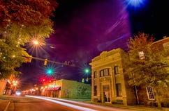 Night scenes around olde york white rose city south carolina Stock Images