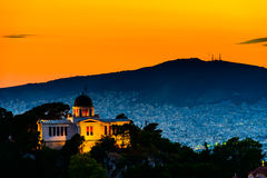 Night scenes of Athens. Greece Stock Image
