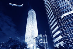 Night scenes of beijing financial center district Stock Photo