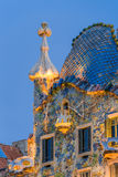 Night scenes of Casa Batllo. In Barcelona stock photography
