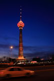 night scenes of CCTV tower stock images