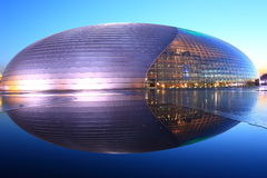 Night scenes of China Grand National Theater stock image