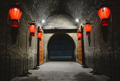Night scenes of Chinese traditional building architecture Royalty Free Stock Photography