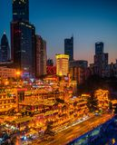 Night Scenes of Chongqing Hongya cave royalty free stock photography