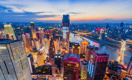 The night scenes of Chongqing stock image
