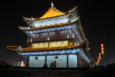 Night scenes of drum tower Royalty Free Stock Photos