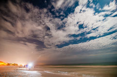 Night scenes at the florida beach Royalty Free Stock Image