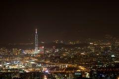 Night Scenes Of The Taipei City, Taiwan Stock Photography