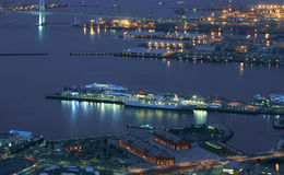 Night scenes of the port Royalty Free Stock Image