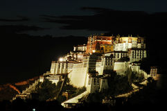 Night scenes of the Potala palace Royalty Free Stock Image