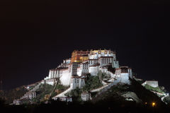 Night scenes of Potala Palace Royalty Free Stock Photo