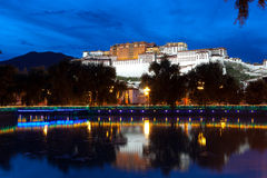 Night scenes of Potala Palace Royalty Free Stock Photos