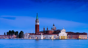 Night scenes of San Giorgio Maggiore Stock Photo