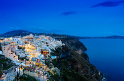 Night scenes of Santorini Stock Photo