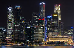 Night Scenes of Singapore Royalty Free Stock Photos