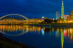 Night scenes of the Taipei city Stock Images